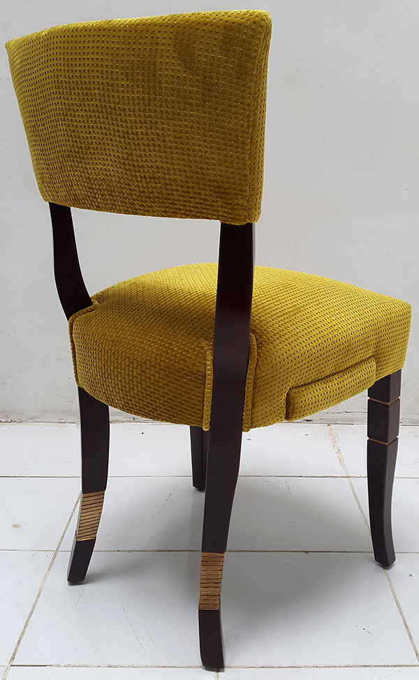 coya restaurant dining chair with side drawer
