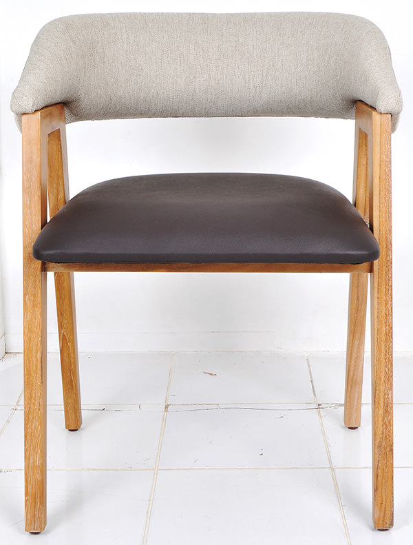 1 Doa Dining Chair 2 Teak Leather Fabric Plywood Foam Indoor Jpg