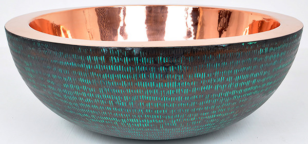 green copper basin