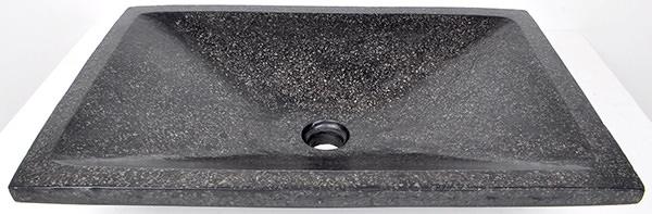 black stone basin