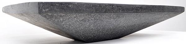 black stone terrazzo glossy sink