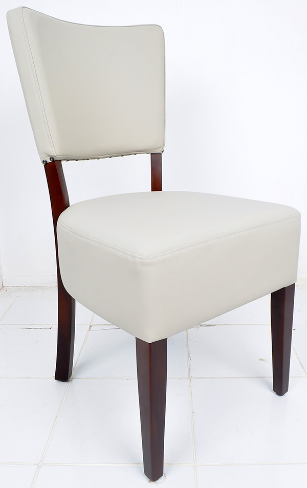 french bistro chair from leather and mahogany