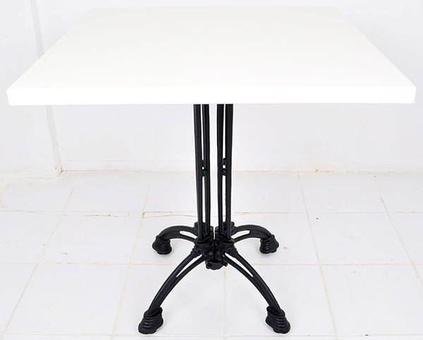 bistro table with cast iron table legs