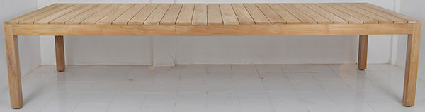 outdoor teak wooden table