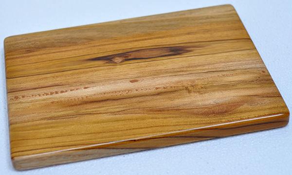 solid teak cutting board