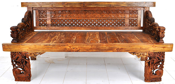 Balinese wooden bench