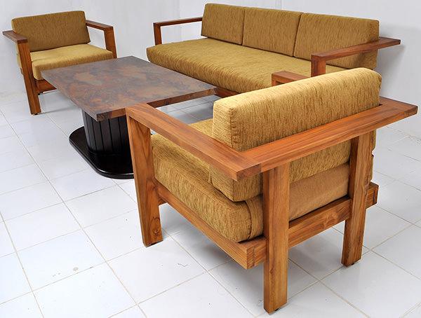 teak indoor couch set