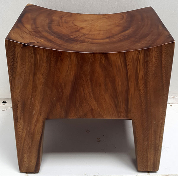 curved square suar wooden stool