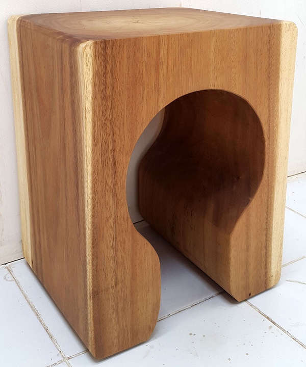 solid wooden stool without lamination