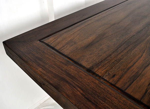 rectangular table for steakhouse with brown stain
