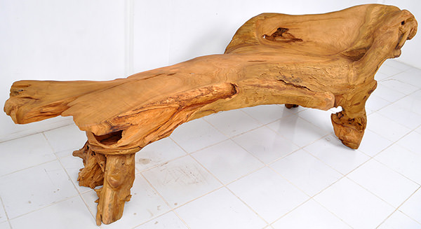 teak root furniture with natural color