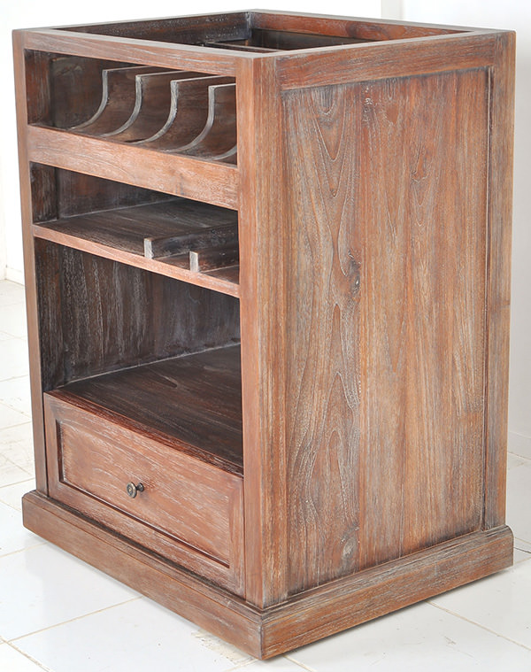 french bistro waiter cabinet with antique finishing