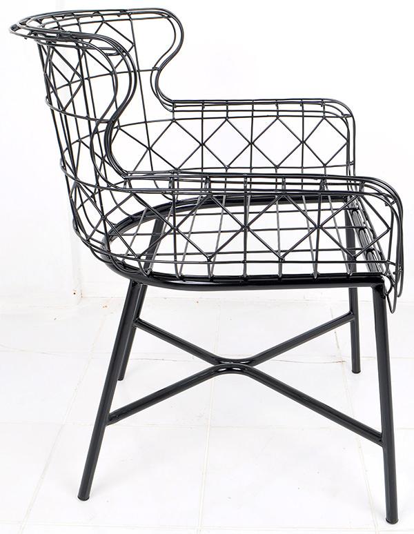 Iron wire Danish armchair