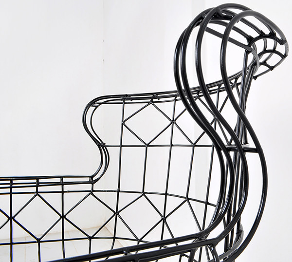 Wire metal furniture