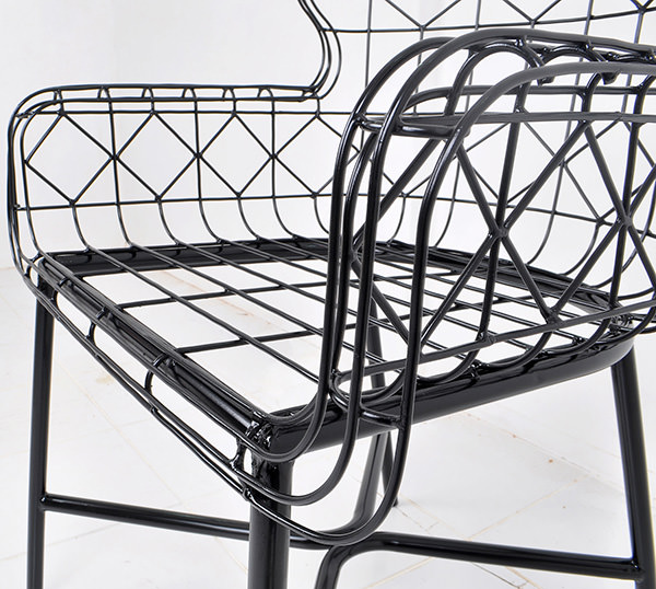 Wire black metal furniture