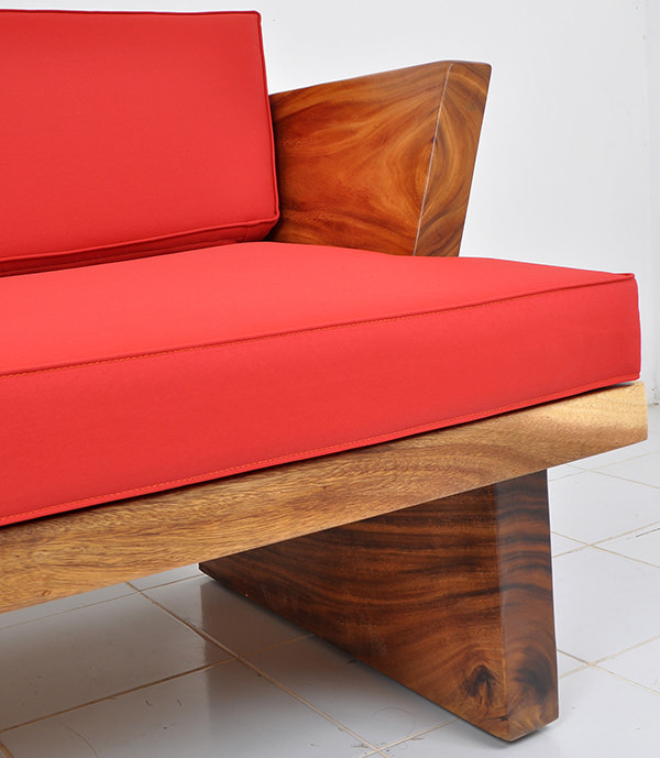 suar furniture with red upholstery