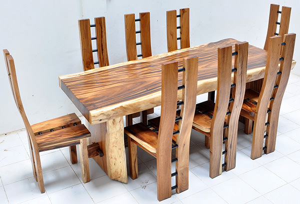 monkey pod dining set