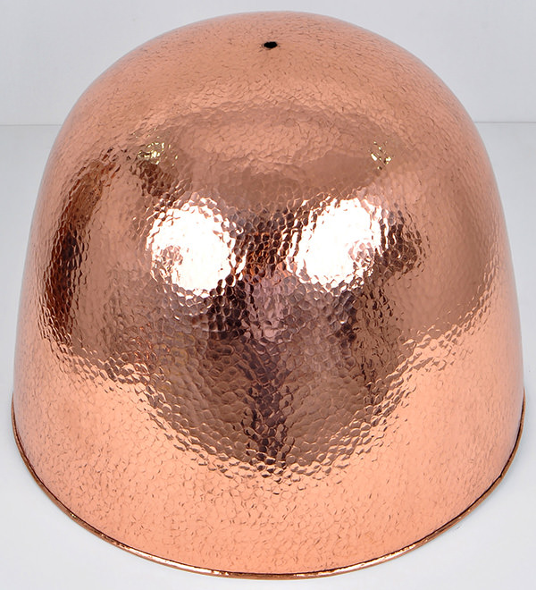hand hammered copper lamp