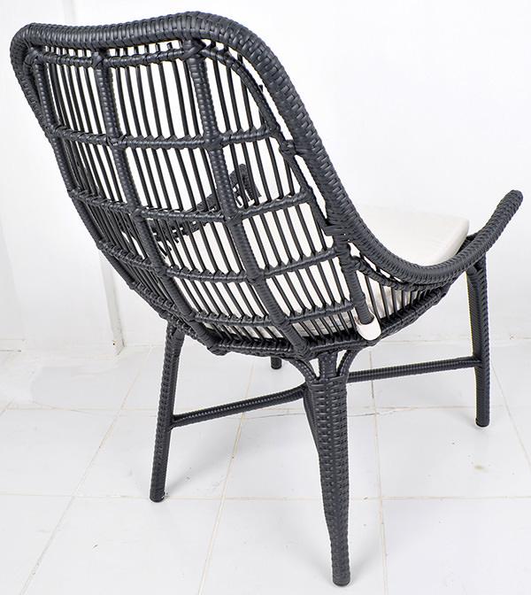 Classic nordic design garden synthetic rattan chair