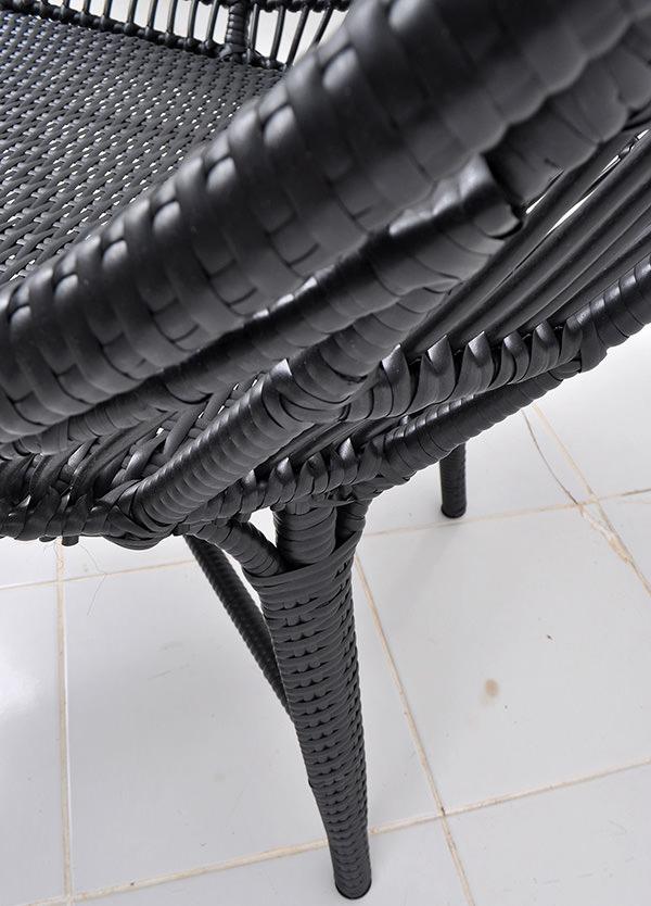 Aluminium and synthetic rattan furniture