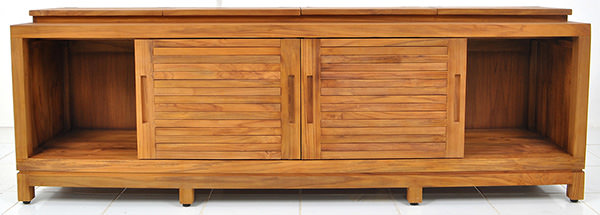 four doors teak Danish cabinet with traditional woodwork