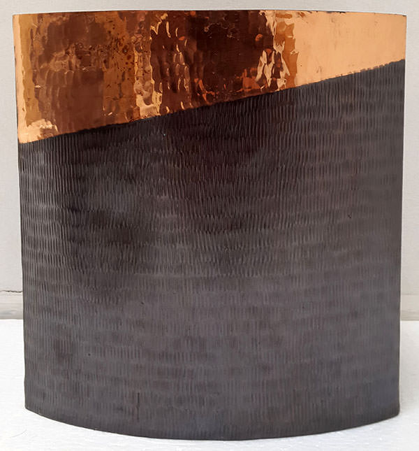 square copper vase