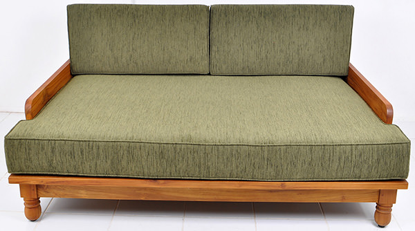 green teak day bed