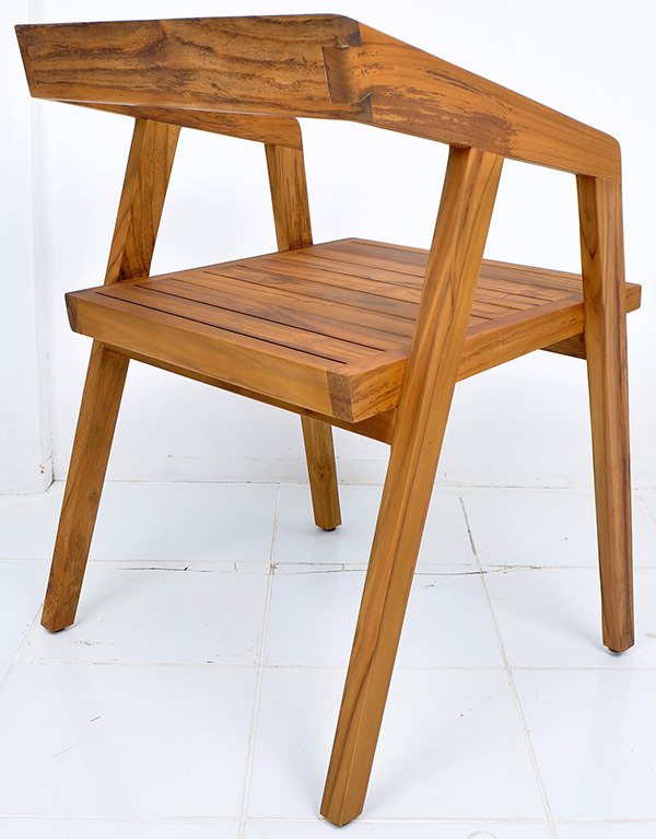 danish square garden chair