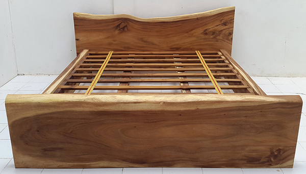 suar bed frame with natural shapes