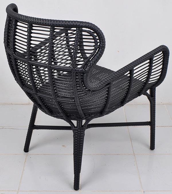 Black weaving armchair