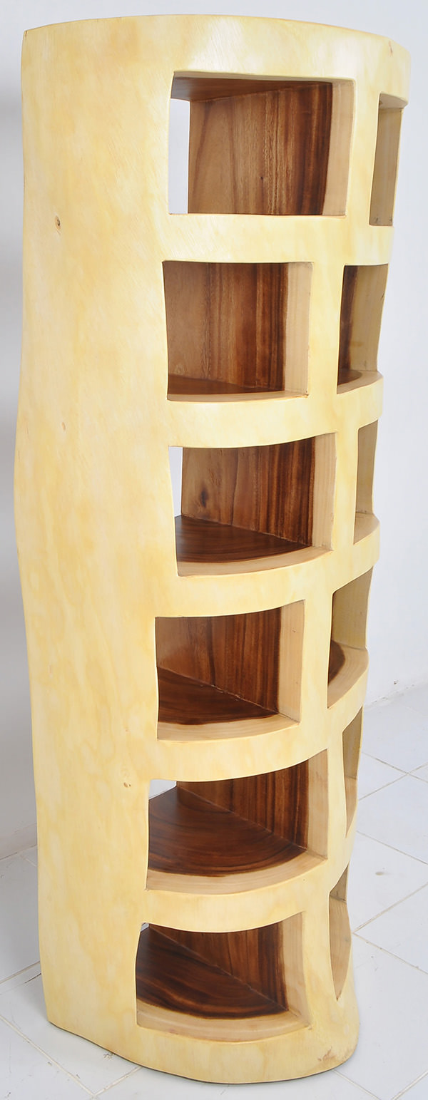 trembesi wood bookcase