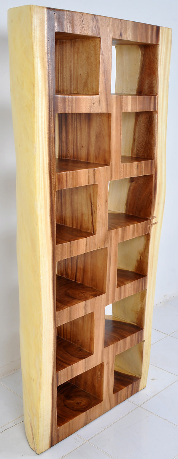 trembesi wooden bookcase