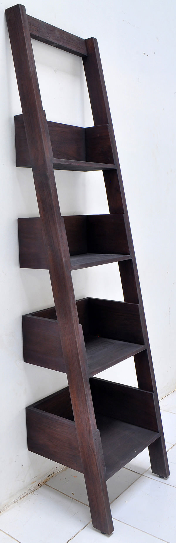 burnt teak wall ladder