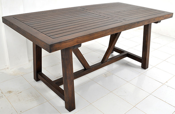 table top with open wood lamination