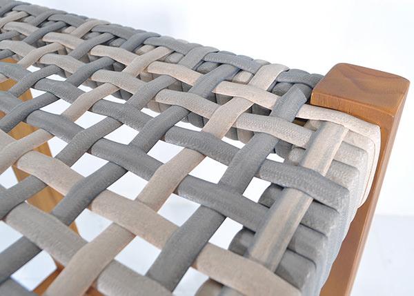 Synthetic rattan stool