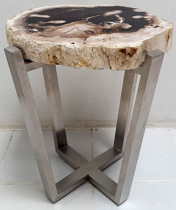 petrified wooden table