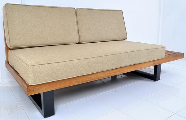 Scandinavian outdoor sofa with waterproof cushion