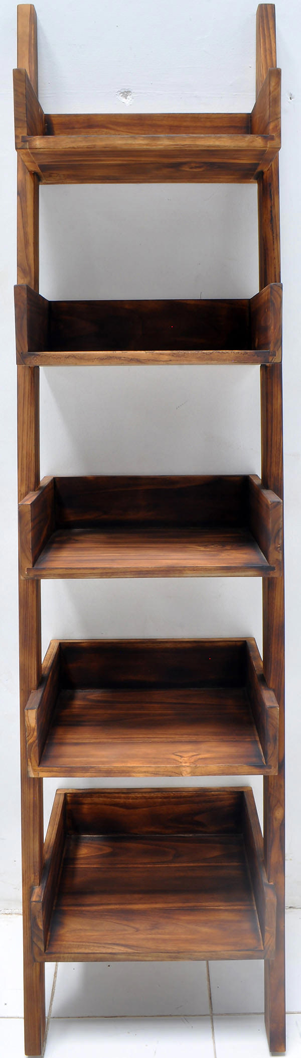 180cm burnt teak wall ladder