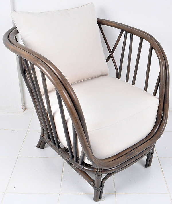 Danish lounge chair with thick cushion