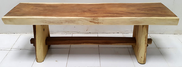 suar wooden table with foot rest