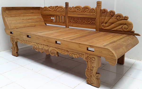 handmade carved bench