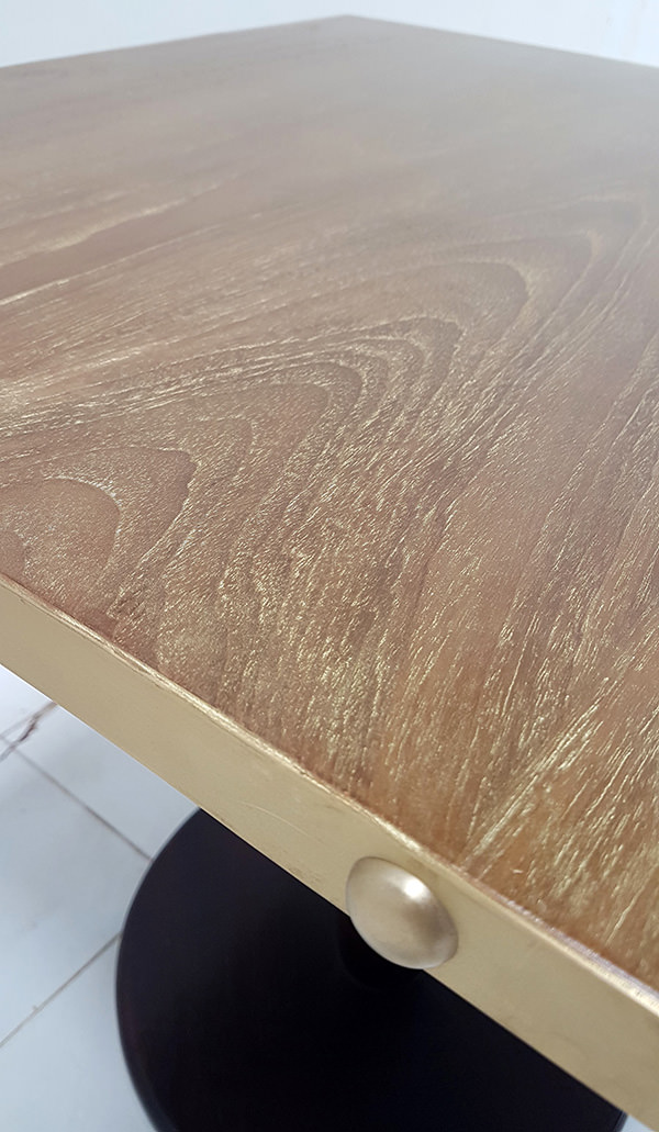 gold washed wood finish