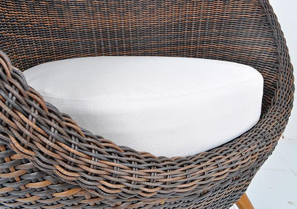 Garden egg chair with rattan