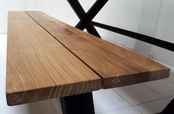 garden teak bench top
