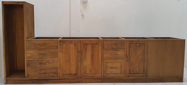 teak kitchen set