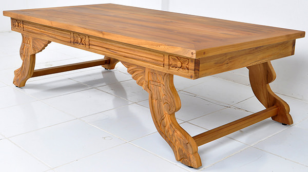 Asian coffee table with carvings