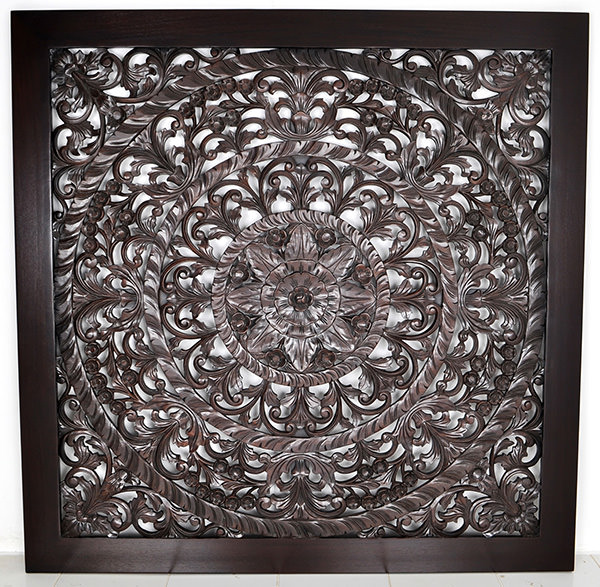 Wood carvings wall panel