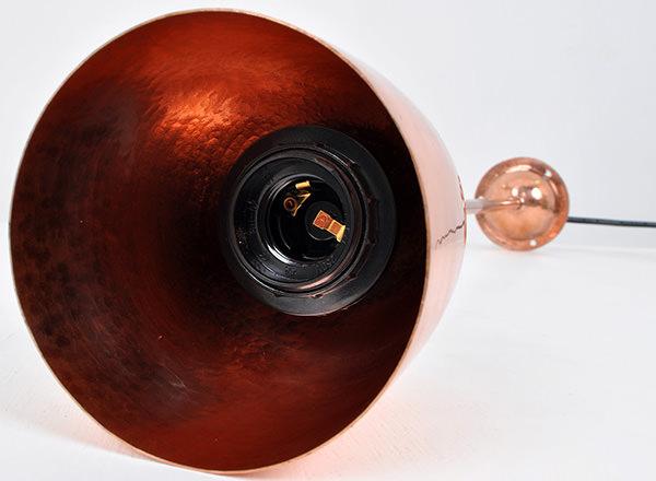 reddish copper lamp