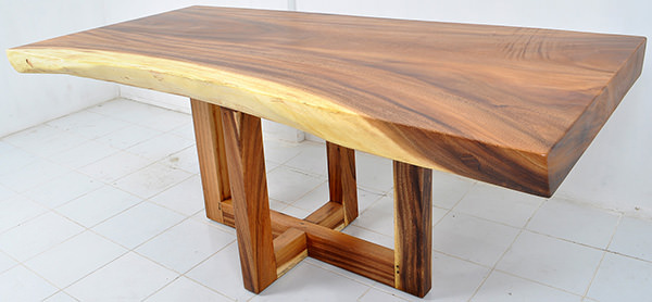 suar dining table with X-shaped legs
