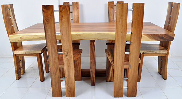 trembesi wooden dining set
